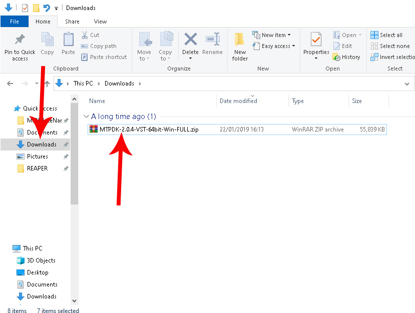 Install VST dll Plugin from archive folder such as ZIP or RAR