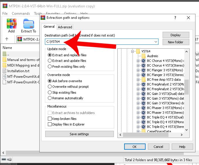 Extract RAR or ZIP file to folder